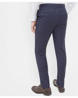 Debonair Checked Wool Trousers