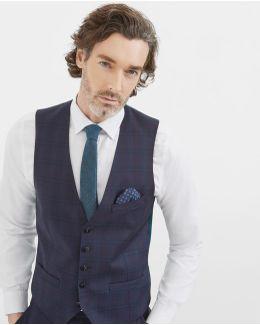 Debonair Checked Wool Waistcoat