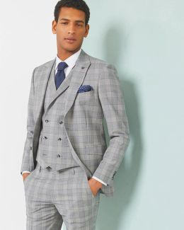 Debonair Checked Wool-mohair Jacket