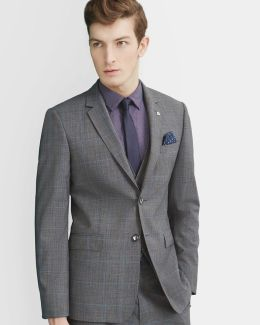 Prince Of Wales Checked Wool Jacket