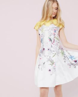 Passion Flower Skater Dress