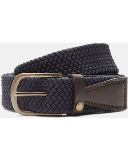 Elastic Woven Leather Belt