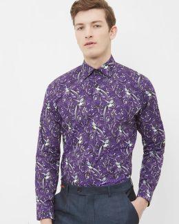 Parrot Paisley Cotton Shirt