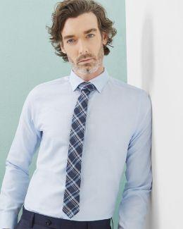 Mini Design Linen-blend Shirt