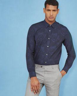 Floral Jacquard Cotton Shirt