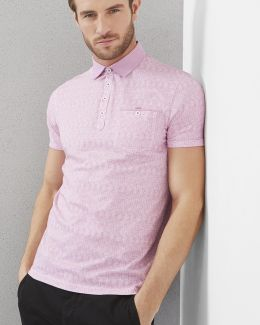 Printed Cotton Polo Shirt