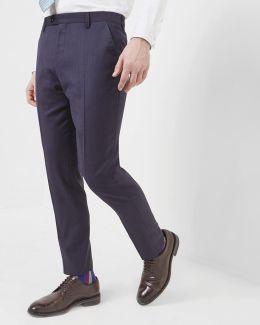 Debonair Checked Wool Trousers