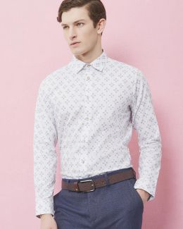 Geo Print Cotton Shirt
