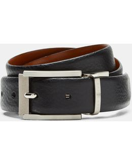 Reversible Textured Leather Belt