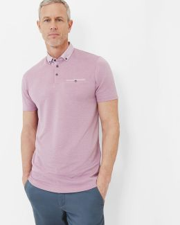 Geo Print Collar Polo Shirt