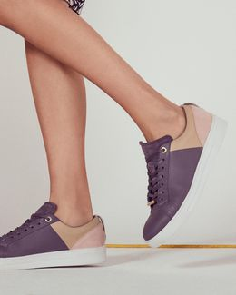 Lace-up Colour Block Trainers