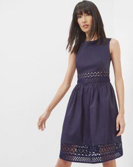 A-line Lace Panel Dress