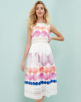 Marina Mosaic Crochet Dress