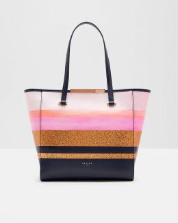 Glitter Stripe Shopper Bag