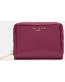 Colour Block Leather Wallet