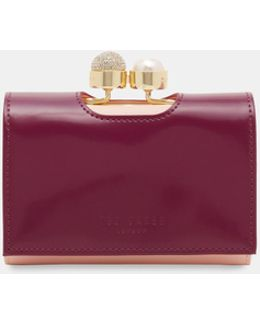 Pearl Bobble Small Leather Wallet