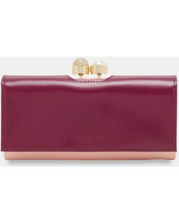 Pearl Bobble Leather Wallet