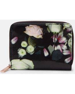 Kensington Floral Leather Mini Purse