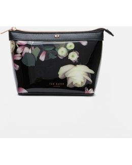 Kensington Floral Patent Cosmetic Bag
