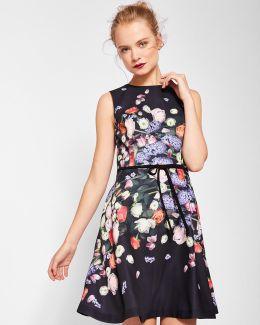 Kensington Floral Bow Detail Shift Dress