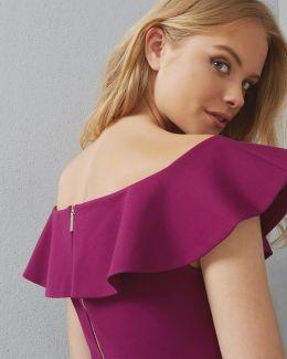 Frill Detail Bardot Top