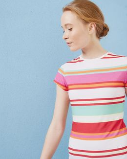 Pier Stripe Fitted T-shirt