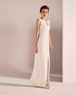 Embellished Shoulder Detail Bridal Dress