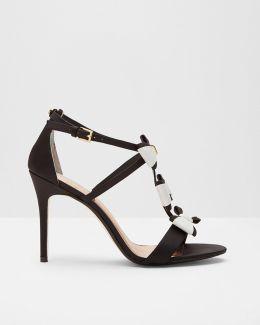 Triple Bow Detail Sandals