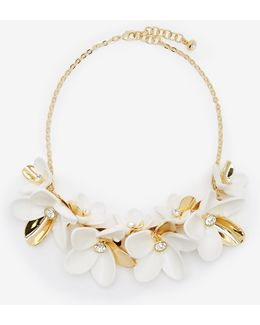 Swarovski Crystal Statement Floral Necklace