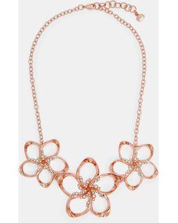 Swarovski Crystal Floral Necklace