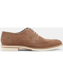 Suede And Leather Brogues
