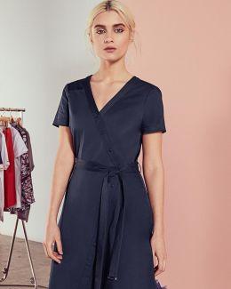 Crossover Cotton Dress