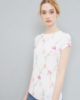 Sketchbook Floral Fitted T-shirt