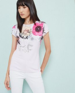Neon Poppy Fitted T-shirt