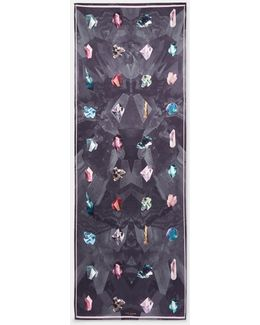 Mirrored Minerals Silk Long Scarf
