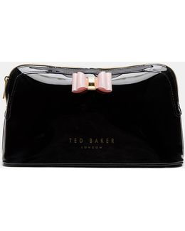 Bow Detail Large Wash Bag