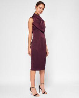 Layered Bow Midi Dress