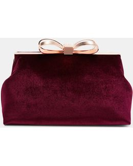 Bow Clasp Clutch Bag
