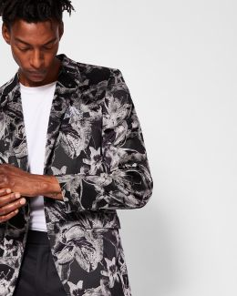 Pashion Floral Jacquard Velvet Jacket