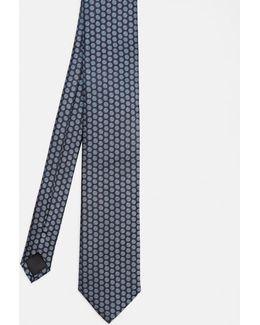 Button Motif Silk Tie