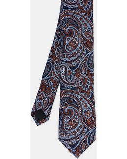 Paisley Print Silk Tie