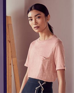 Square Cut Linen T-shirt