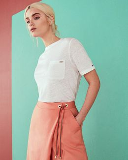 Colour By Numbers Harlaa Square Cut Linen T-shirt