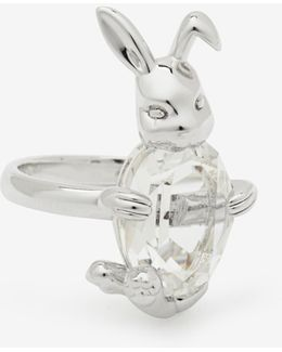 Rabbit Swarovski Crystal Ring