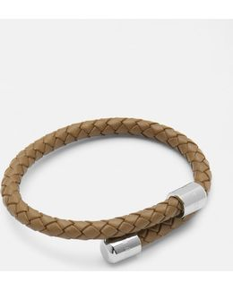 Leather Woven Bangle