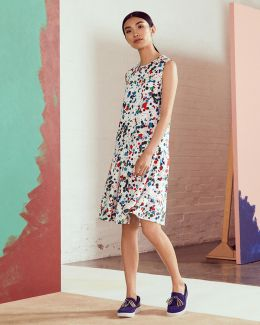 Paint Splash Print Drop Waist Dress
