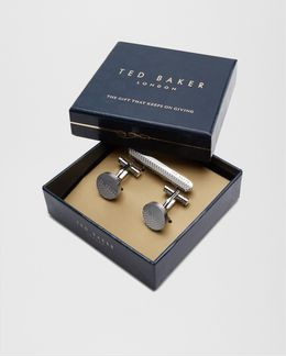 Cufflink And Tie Bar Gift Set