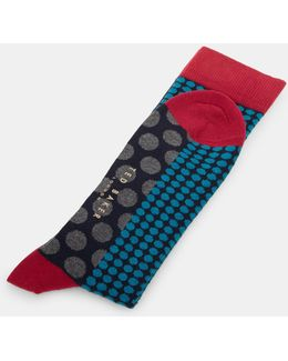 Spotted Organic Cotton-blend Socks