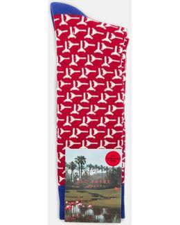 Geo Cotton Socks