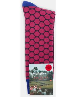 Golf Ball Pattern Cotton Socks